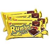 PACK de 4 paquetes Galletitas RUMBA de BAGLEY. Galletitas Dulces rellenas sabor a Chocolate con