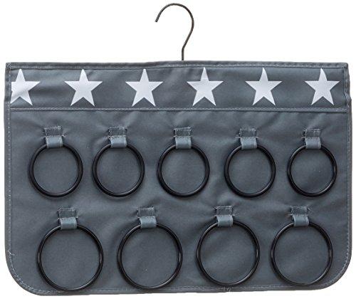 STORE.IT 671060 Schal- und Tuch Organizer, Tuchhalter, Bügel, 45x28 cm, Grau mit weißen Sternen