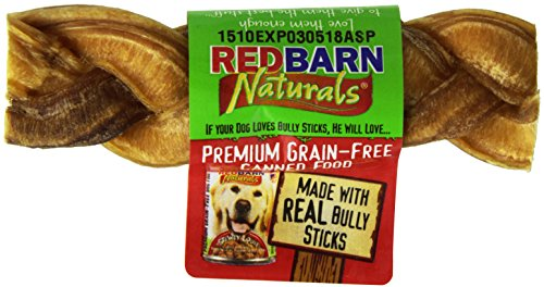 Redbarn Braided Bully Sticks 5 Dog Treats, 5-in chew, case of 30 by Beefeaters