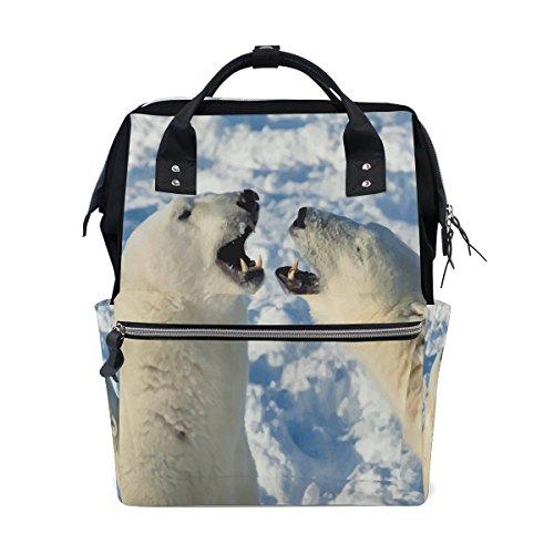 Carters Eisbär (Mumienschlafsack Windel Tote Staubbeutel mehr Kapazität Baby Wickeltasche Eisbären muti-function Reise Rucksack)