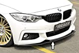 Rieger Frontspoilerschwert schwarz glänzend für BMW 4er F32 (3C)/ F33 (3C)/ F36 (3C): 11.12-06.15 (bis Facelift), 07.15- (ab Facelift)