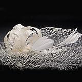 MJW&W Damen Spitzen / Feder / Stoff Kopfschmuck-Hochzeit / Besondere Anlässe Kopfschmuck 1 Stück , ivory