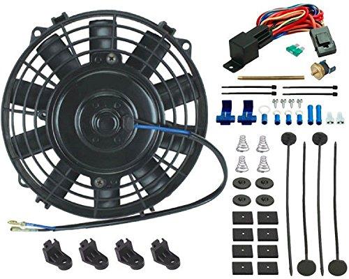 'American V 7INCH Elektro Lüfter Kühlung 12V ocultables Heizkörper Fin Sonde Thermostat-Kit -