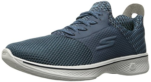 Skechers Damen Go Walk 4-Sustain Ausbilder Blau (Navy/Grey)