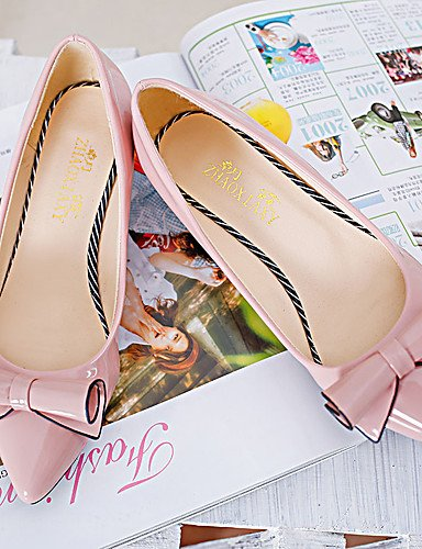 GS~LY Da donna-Tacchi-Casual-A punta-A stiletto-Di pelle-Nero / Rosa / Rosso / Bianco / Grigio gray-us8.5 / eu39 / uk6.5 / cn40