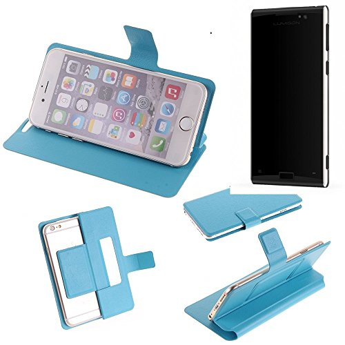 K-S-Trade Flipcover für Lumigon T3 Schutz Hülle Schutzhülle Flip Cover Handy case Smartphone Handyhülle blau