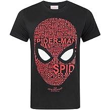 Spider-Man Hombre Araña para Hombre de La Camiseta de Algodón Negro de emociones Elbenwald LI6LRwr
