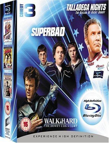 Talladega Nights - The Ballad Of Ricky Bobby/Superbad/Walk Hard - The Dewey Cox Story [Blu-ray] [UK Import]