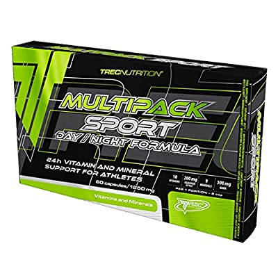 TREC NUTRITION MULTI PACK SPORT DAY AND NIGHT 60caps HIGH DOSE OF VITAMINS AND MINERALS COMPLEX FOR BODY SUPPORT by Trec Nutrition