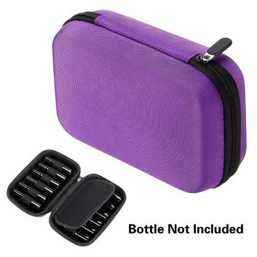 BTSKY Funda de Caja de Botellas de Aceite Esencial de Transporte Portátil Rígida, Impermeable y Resistente para Organizar 12 Frascos o Tubos de Aceites Esenciales de Unas de 10 y 5 ml (las Botellas de Aceites Esenciales no Incluyen)