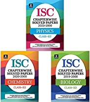 ISC Chapterwise Topicwise Solved Papers Class 12 Physics, Chemistry & Biology for 2021 Exam (Set of 3 bo