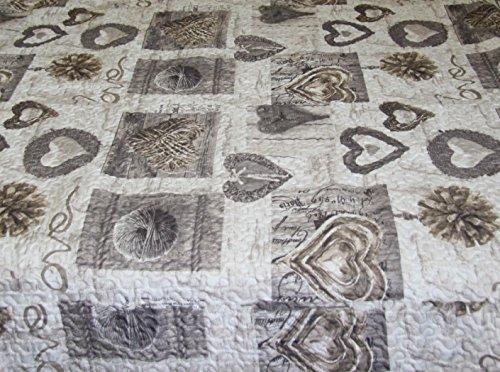 Russo tessuti copridivano copri divano trapuntato angolare penisola fantasia shabby chaiselong-grigio-250 penisola a sinistra