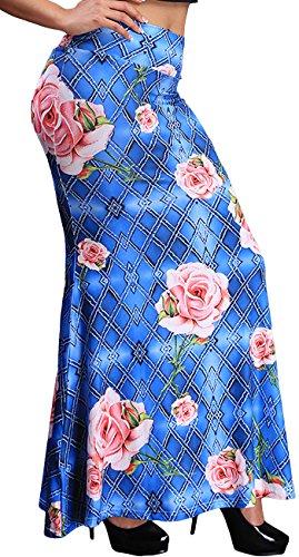 Novias Boutique Women Fashion Fold Over High Waist Maxi Skirt Long Skirt