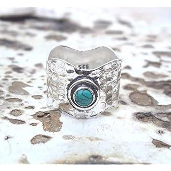 Meditationsringe, Spinnerringe, Silberringe für Frauen, Beautiful Designer Spinning Ring for Women, Turquoise Spinner…