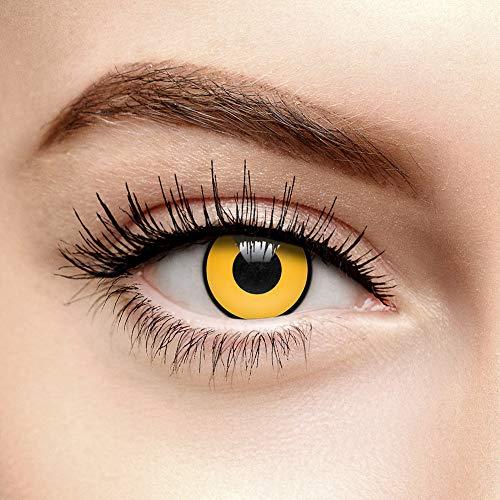 Lentillas de Contacto Color Amarillo Sombrerero Loco (90 Días)