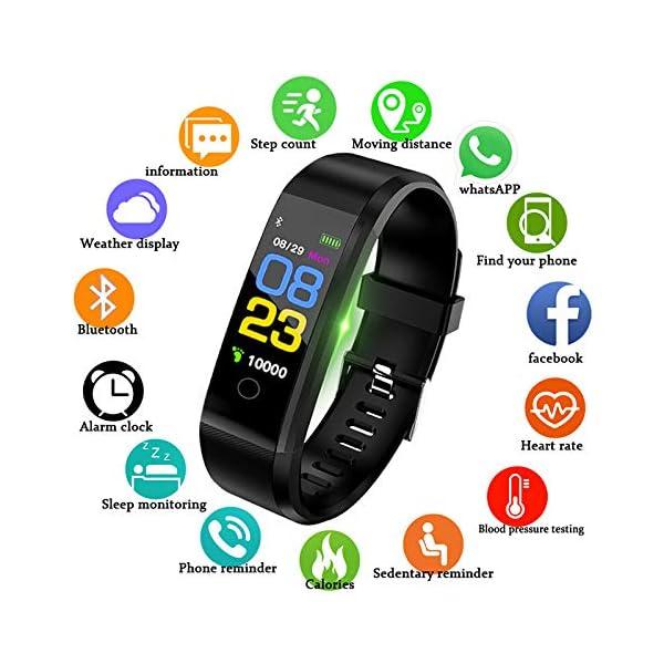 Fitness Tracker, reloj de seguimiento de actividad con monitor de frecuencia cardíaca, IP67 a prueba de agua con contador de pasos, contador de calorías, reloj de podómetro para niños y mujeres 7