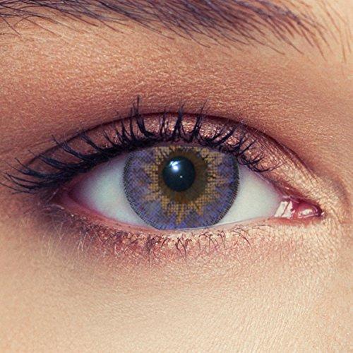 """Lentillas de color morado natural para los ojos oscuros de tres meses sin dioprtías / corregir + gratis caso de lente """"Dimension Purple"""""""