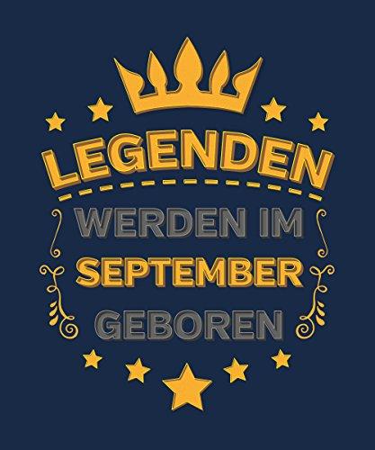 -- Legenden werden im September geboren -- Boys T-Shirt Navy