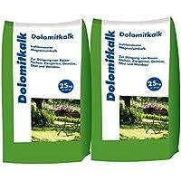2x25 kg Dolomitkalk Rasenkalk - Zur Vorbeugung von Moosbildung im Rasen mit Calcium und viel Magnesium