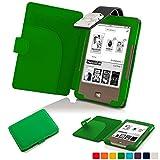 Forefront Cases® Tolino Page Shell Hülle Schutzhülle Tasche Bumper Folio Smart Case Cover Stand mit LED Licht - Leicht mit Rundum-Geräteschutz (GRÜN)