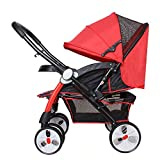 abdc kids Red Camel Pram Stroller Reversible Handlebar Extra Wide Seating