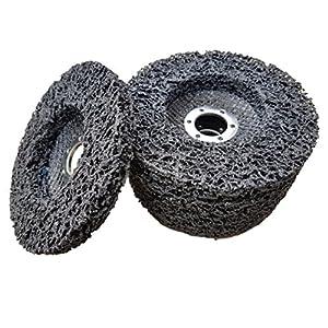 5 x Rostio CSD Scheibe 125 mm schwarz Reingungsscheibe Set | Schleifscheibe Rostentferner für Flex | Winkelschleifer