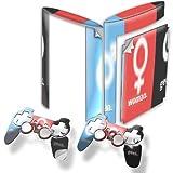 Man Woman Geek, Designfolie Sticker Skin Aufkleber Schutzfolie mit Farbenfrohem Design für PlayStation 3 Super Slim