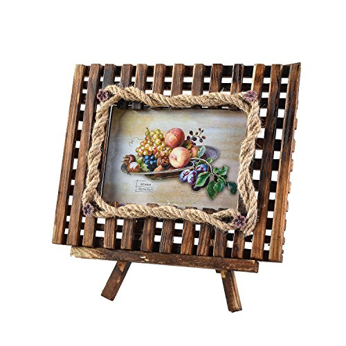 Arpan Bilderrahmen NEU aus Holz mit Standfunktion Geschenk ideal für Weihnachten, 4''x6'' Inch