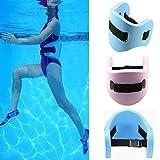 QLING - Cintura Galleggiante in Schiuma Eva, per Adulti e Bambini, per Nuotare in Tutta Sicurezza, Blue, Taglia Libera