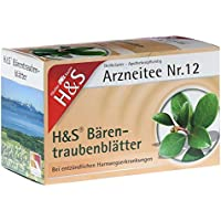 H&S Bärentraubentee Filterbeutel 20 St Filterbeutel preisvergleich bei billige-tabletten.eu