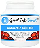 Antarctic Krill Oil Pure Source of Omega 3 (60 Marine Gel Capsules)