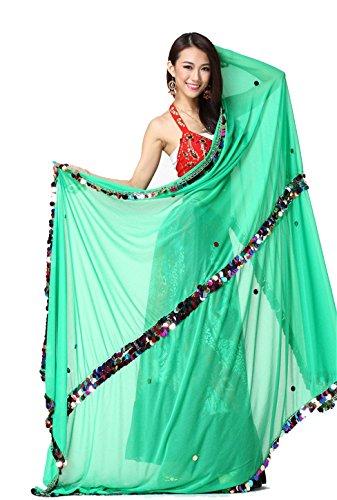Danse du ventre costume Accessories Silk Thrown Ball Veil 70*195CM yellow