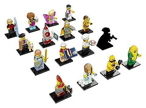 LEGO SERIE 17 Minifigures SET COMPLET 16 figurines différentes LEGO Personnages 71018 Mini Figures