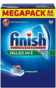 Finish Paquet de 84 tablettes tout-en-un pour lave-vaisselle