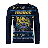 London Co. Marvel Comics Thanos Navy Unisex Christmas Knitted Jumper Large