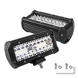 LEDMO 2X60W 40Leds Focos de Coche LED IP67 6000K Impermeable 10V-30V Lampara de coche Faros de trabajo para Coche Moto Off-road ATV SUV Tractor Camión Barco