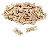 80 x itenga DekoKlammern 2,5cm Holz MiniHolz-Klammern Wäscheklammern Mini Holzklammern, Deko Klammern, Zierklammern, Größe: ca. 2,5