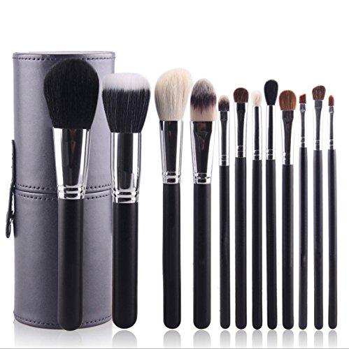 Ruikey 12 pièces pinceaux de maquillage définit brosses cosmétiques avec porte-brosse