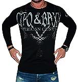 Cipo&Baxx Pullover Sweatshirt Longsleeve Super Optik Grössen S-M-L-XL (M, Schwarz)