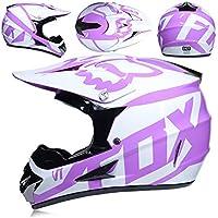 CFYBAO Casco Adulto de Motocross Gafas de Regalo máscara Guantes Fox Moto Racing Casco Integral para