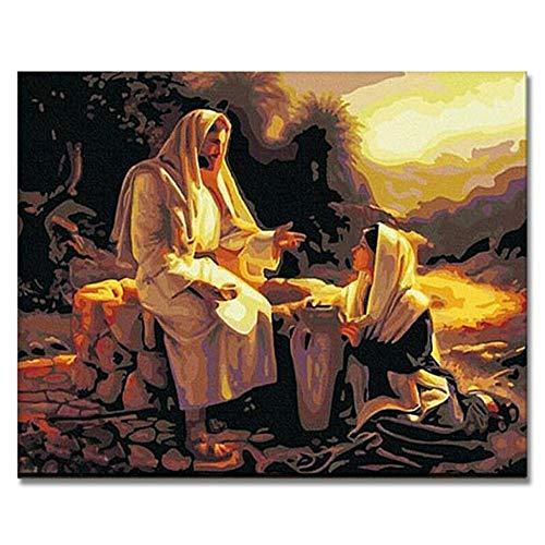 WYTCY Jesus Retter Malen Bilder Von Zahlen Auf Leinwand DIY Handbemalte Figur Färbung Von Zahlen Home Wall Artwork