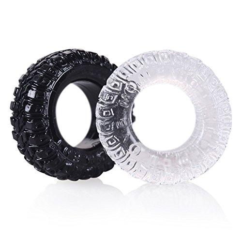 eeddoo® Penisring & Cockring in Reifenoptik - Penis Ring (Penis Cock Pleasure Ring G-Punkt Stimulator Sexspielzeug für Männer & Frauen)
