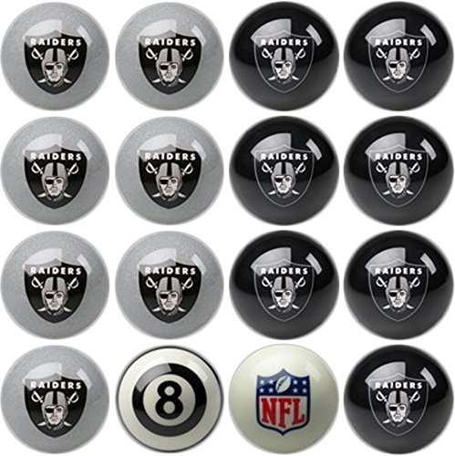 Imperial Offiziell Lizenziertes NFL Home vs. Away Team Billard/Pool Bälle, komplettes 16 Ball-Set, Oakland Raiders, One Size Fits All (Pool 8 Free Ball)