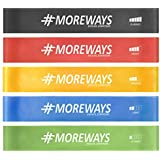 MOREWAYS Mini Loop Bands Set For Squats, Hips & Glutes Workout, For Women & Men With Travel Carry Bag, Instruction Manual And Workout Guide E-Book