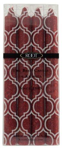 Root Boutique geruchloses 9Zoll Timberline Arista Abendessen Kerzen, granat, 23 cm
