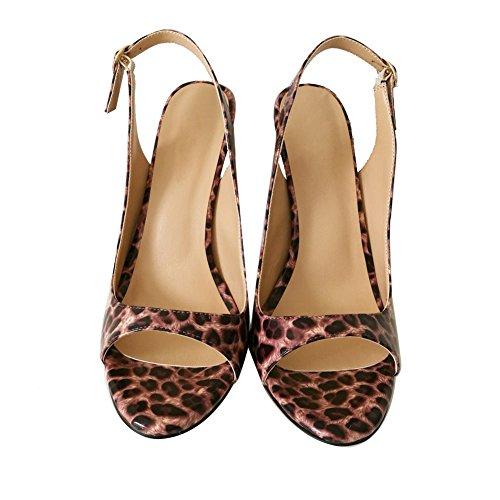 EDEFS Femmes Peep-toe Escarpins Parti Chaussures 12cm Stiletto Sandales Taille 35-45 Léopard