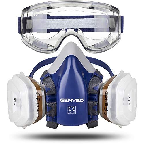GENYED Máscara Antipolvo Antigas Gafas Protectoras