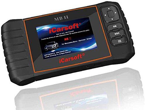 iCarsoft MB II MB2 MB-II OBD2 - Dispositivo diagnostico per la lettura e la cancellazione dei difetti di olio - Con reset sistema SBC e reset spia DPF