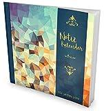 GOCKLER® Notiz-Kalender: Universaler Tagebuch-Kalender || 1 Zeile pro Tag + Notizseiten + Glänzendes Softcover || Ideal für Erinnerungen, To Do's & Termine || DesignArt.: Triangle
