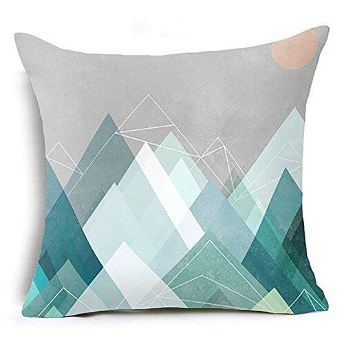 Tyoby Kissenbezüge Umweltschutz Nicht gewebt Geometrische Textur Heimtextilien Sofa Stuhl Bettwäsche Dekoration(G,45x45cm)